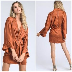 Kimono Bell Sleeves Mini Dress